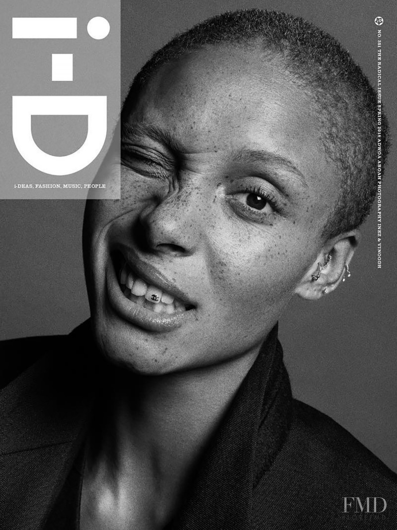 Adwoa Aboah featured on the i-D cover from February 2018