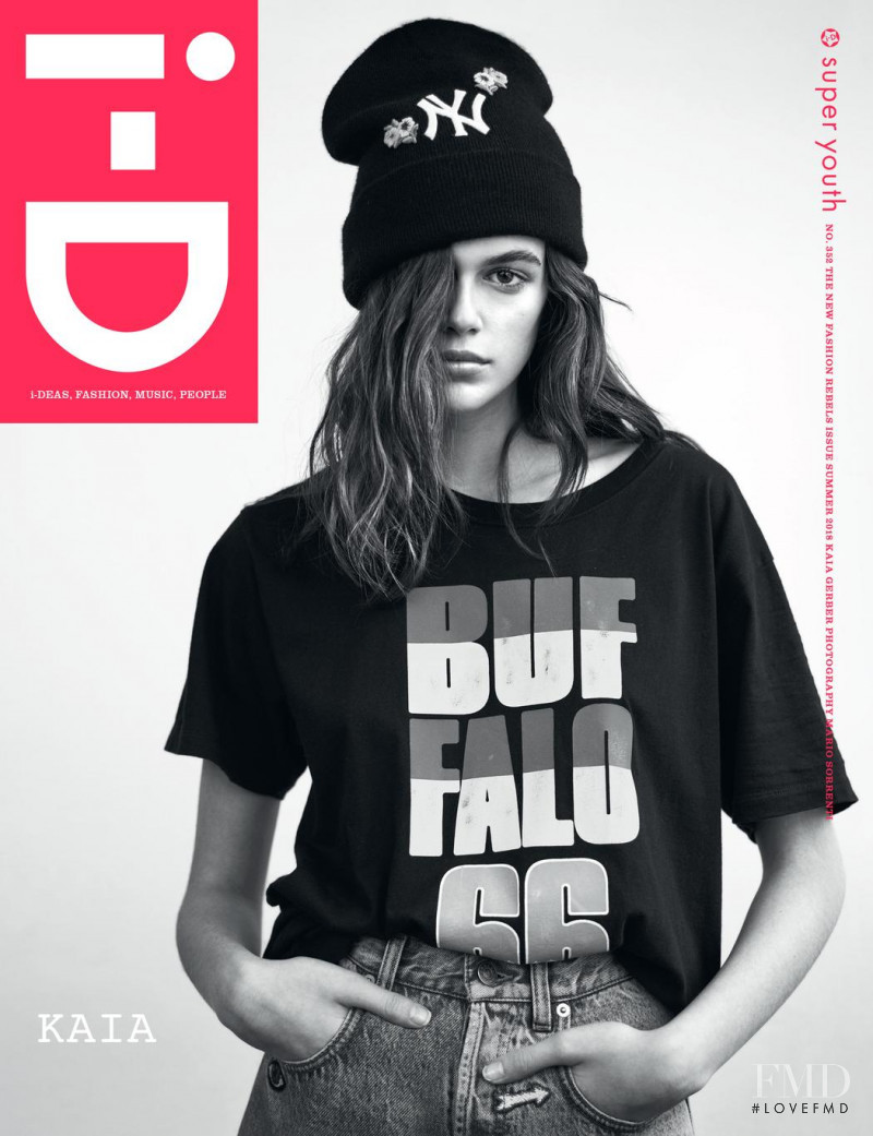 Kaia Gerber featured on the i-D cover from May 2018