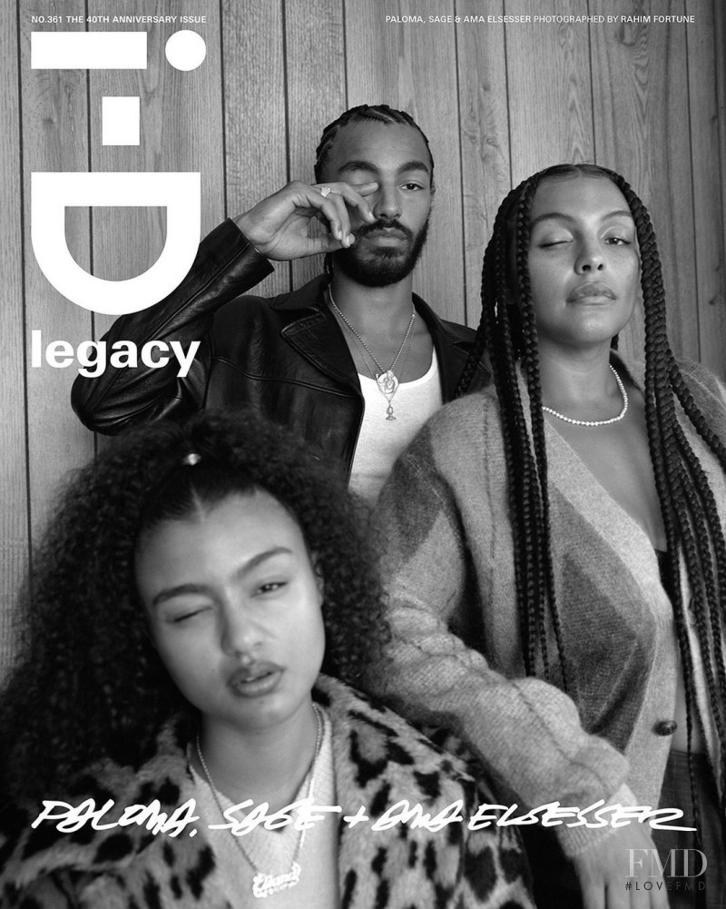 Paloma Elsesser featured on the i-D cover from October 2020