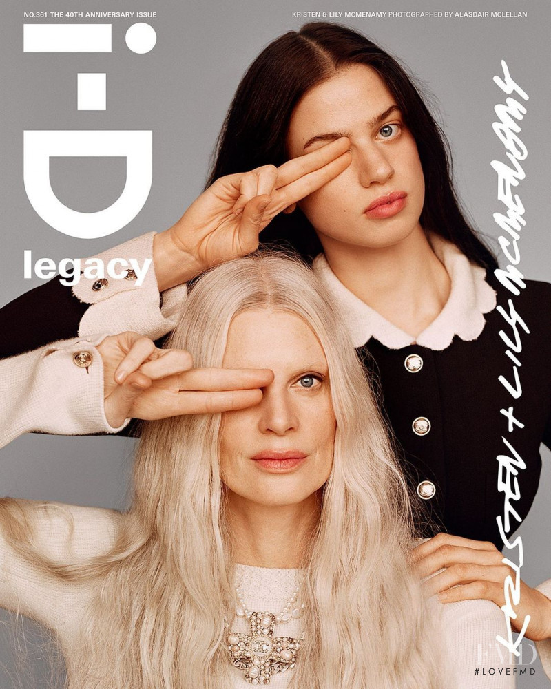Kristen McMenamy, Lily McMenamy featured on the i-D cover from October 2020