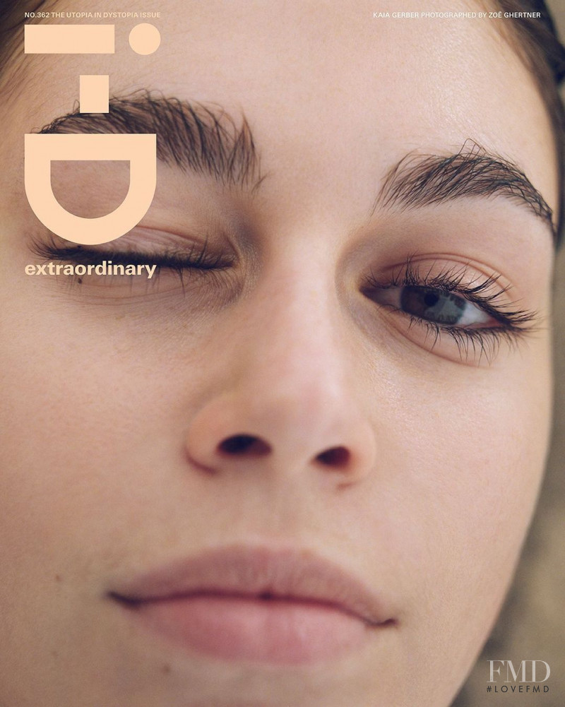 kaia featured on the i-D cover from March 2021