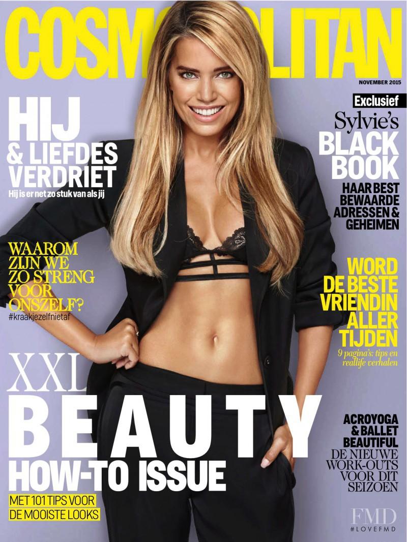 Sylvie van der Vaart featured on the Cosmopolitan Netherlands cover from November 2015