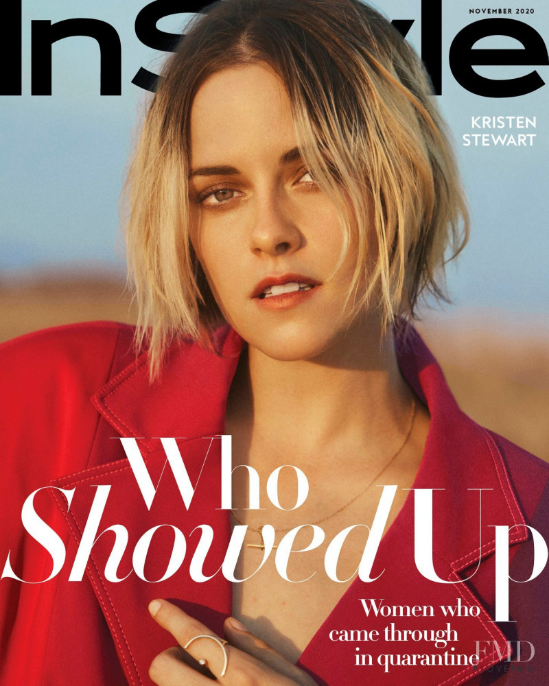 Kristen Stewart featured on the InStyle USA cover from November 2020