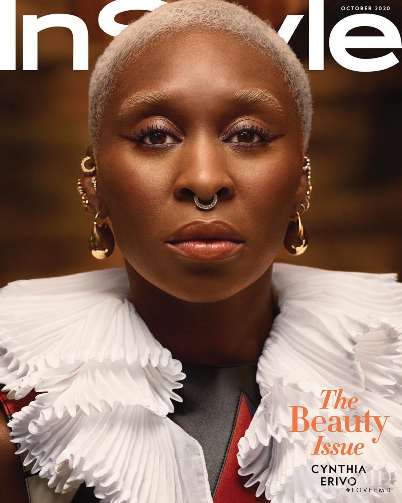 Cynthia Erivo featured on the InStyle USA cover from October 2020