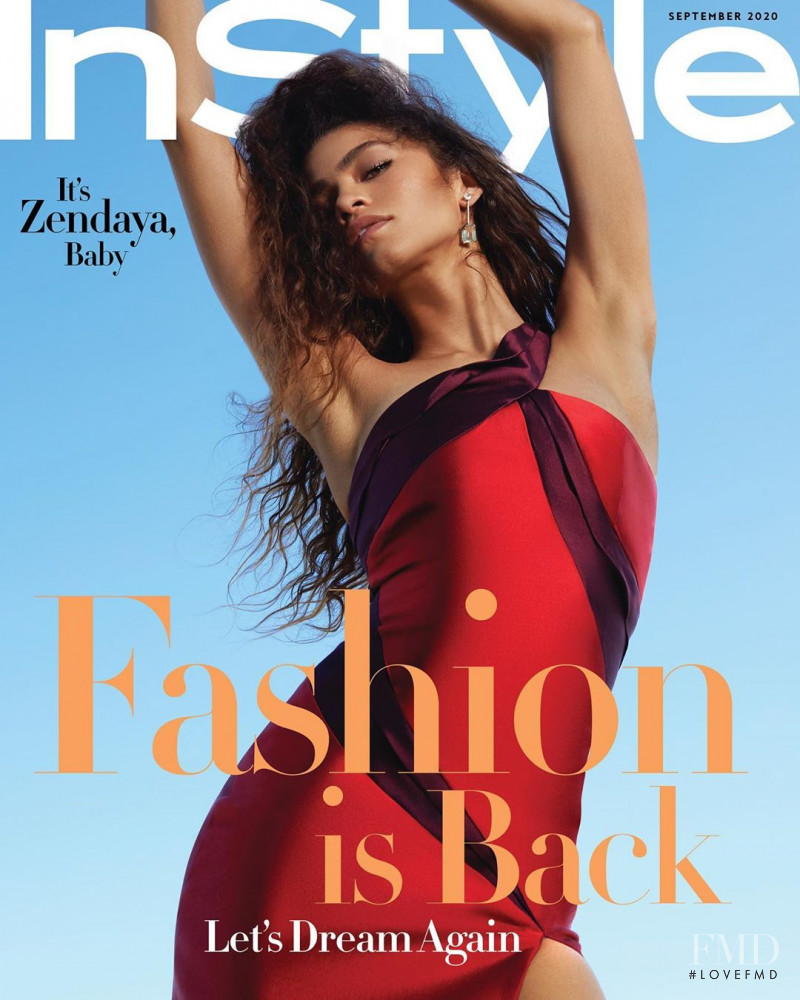 Zendaya featured on the InStyle USA cover from September 2020
