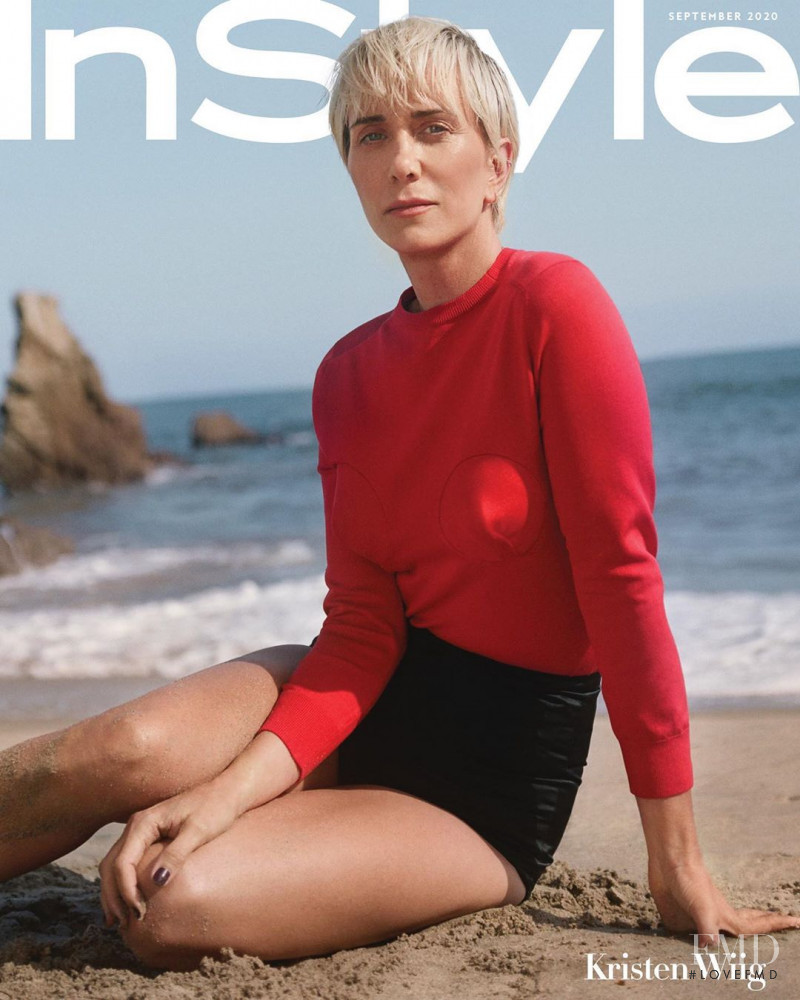 Kristen Wiig featured on the InStyle USA cover from September 2020