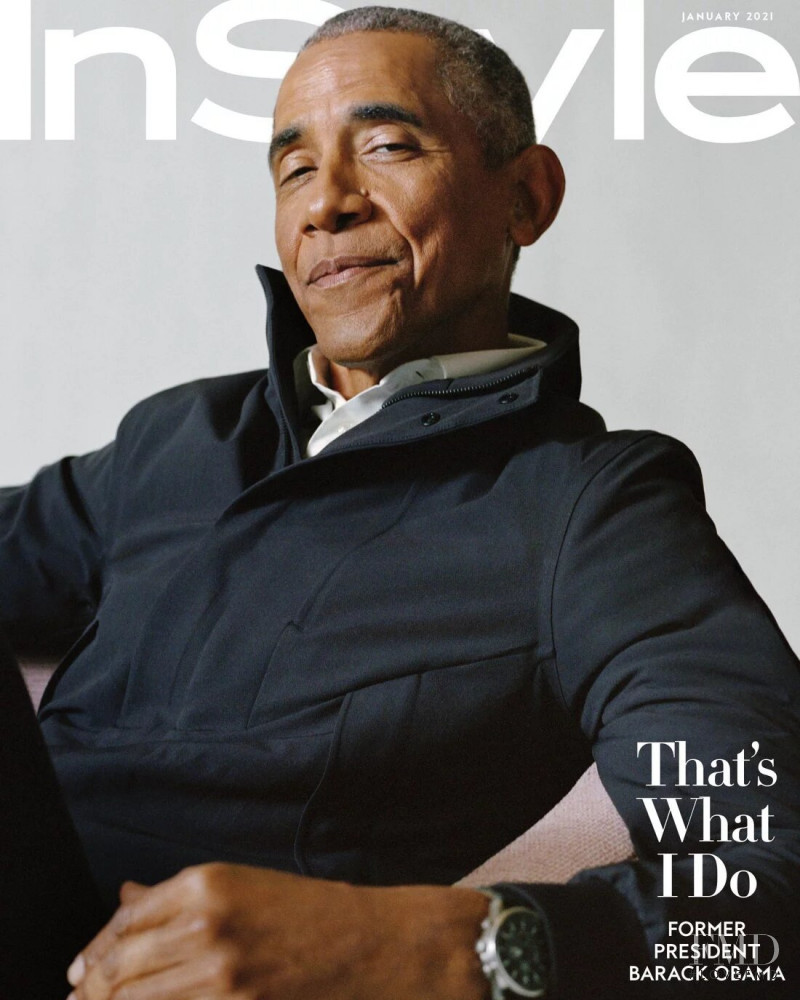 Barack Obama featured on the InStyle USA cover from January 2021