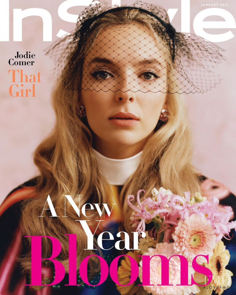 Jodie Comer featured on the InStyle USA cover from January 2021
