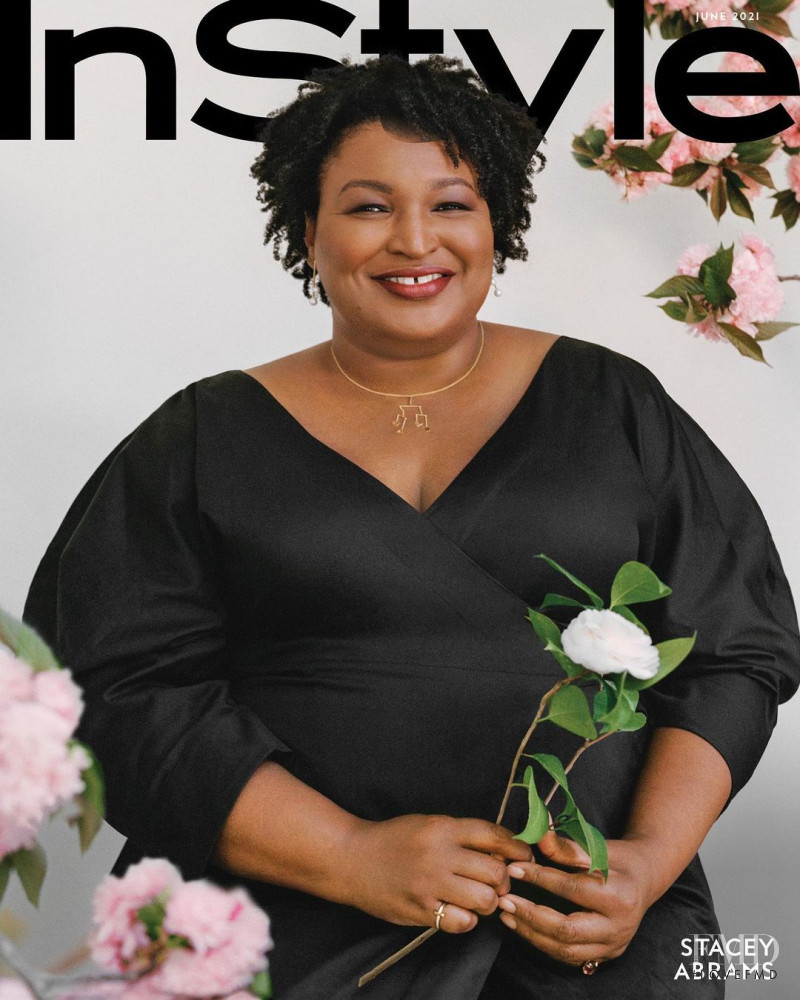 Stacey Abrams featured on the InStyle USA cover from June 2021