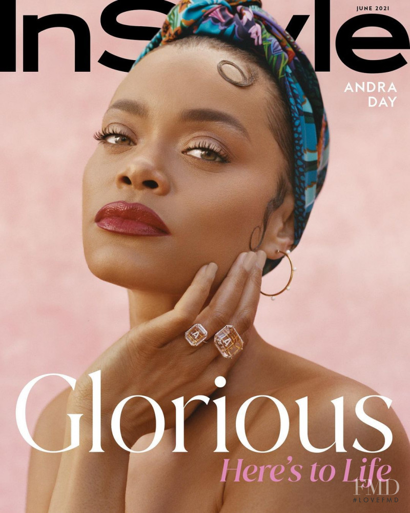 Andra Day  featured on the InStyle USA cover from June 2021