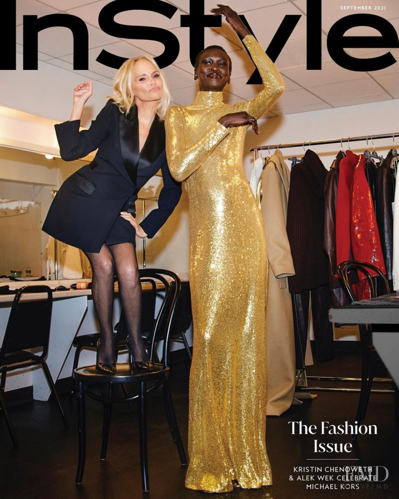 Alek Wek featured on the InStyle USA cover from September 2021