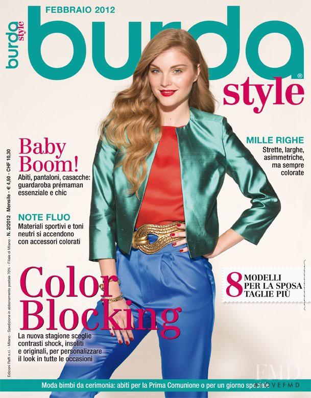 Monika Rohanova featured on the Burda Style Italy cover from February 2012