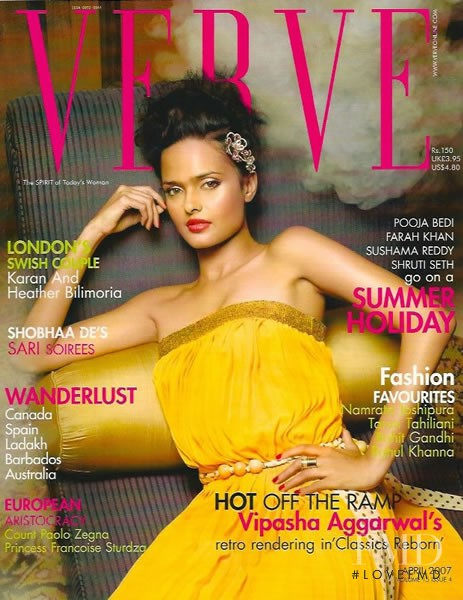 Vipasha Agarwal featured on the Verve cover from April 2007