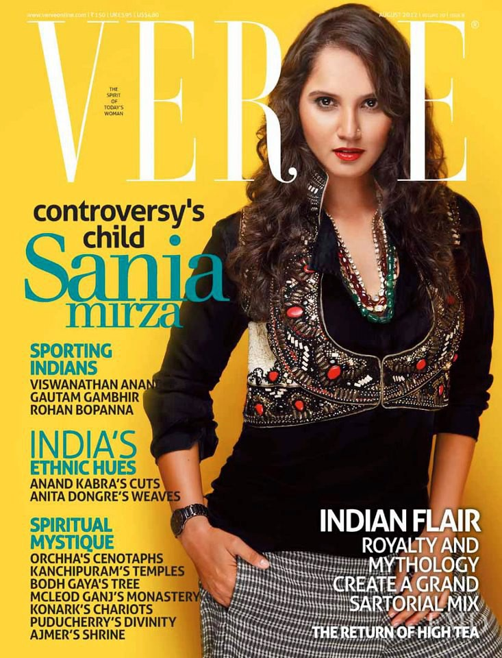 Sania Mirza featured on the Verve cover from August 2012
