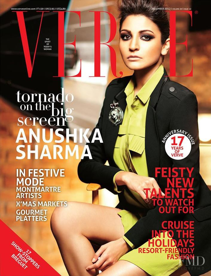 Anushka Sharma featured on the Verve cover from December 2012