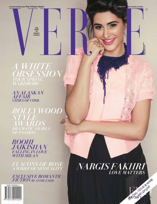 Nargis Fakhri featured on the Verve cover from February 2014