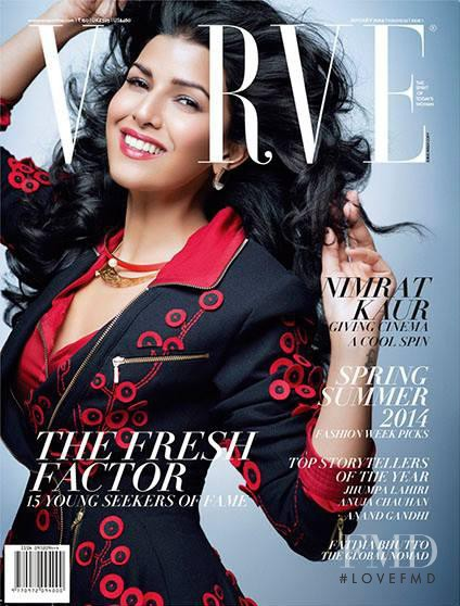 Nimrat Kaur featured on the Verve cover from January 2014