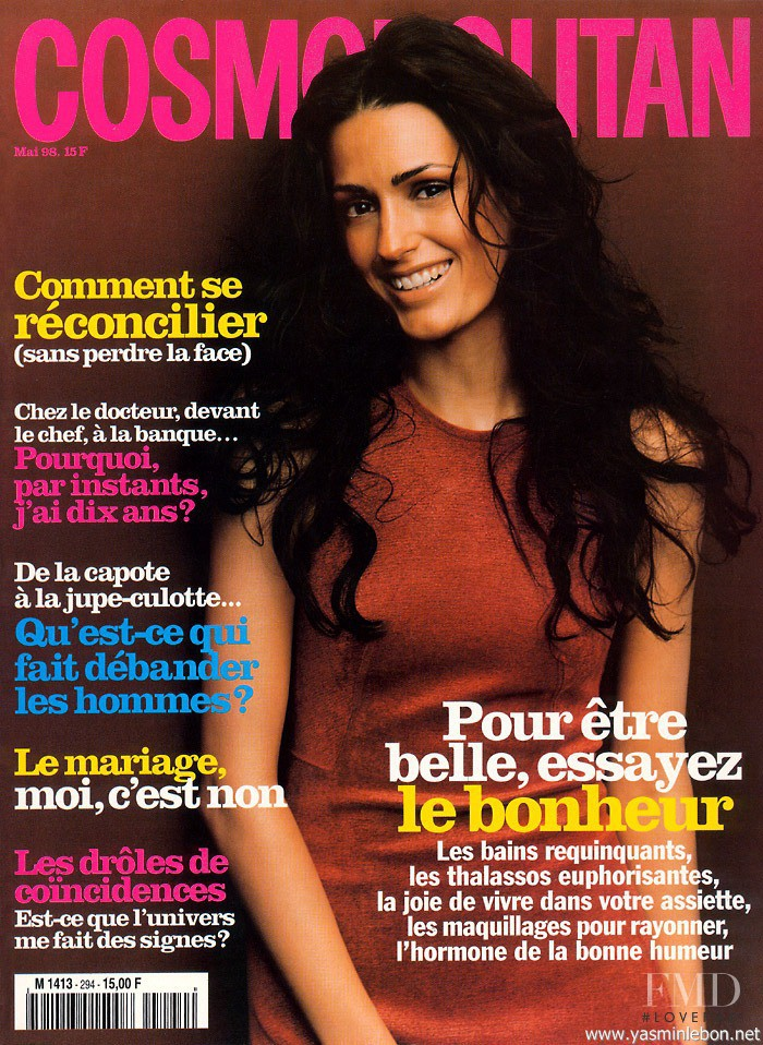 Yasmin Le Bon featured on the Cosmopolitan France cover from May 1998