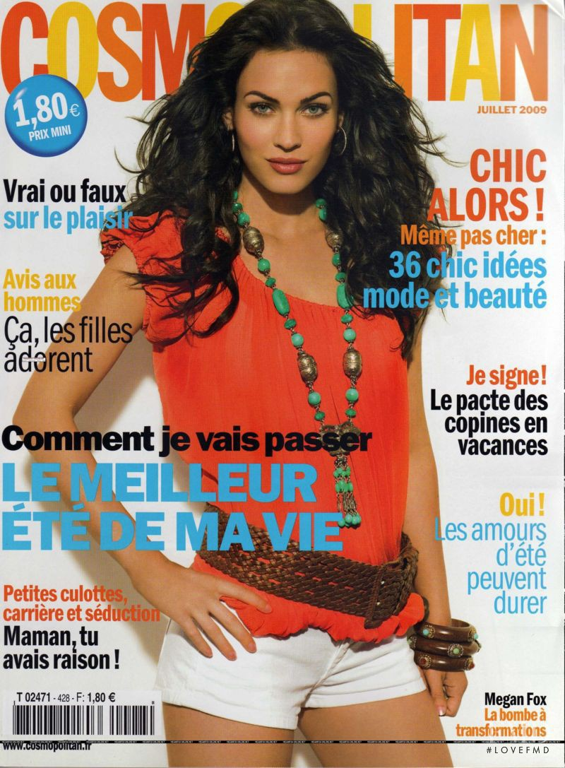 Megan Fox featured on the Cosmopolitan France cover from July 2009