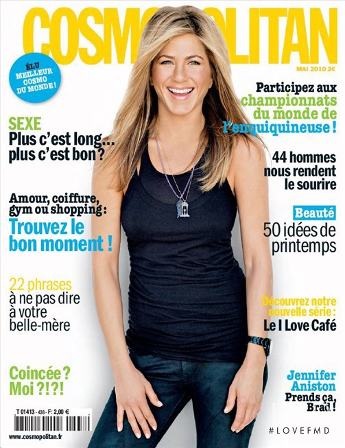Jennifer Aniston featured on the Cosmopolitan France cover from May 2010