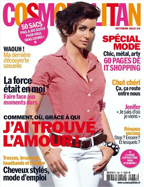 featured on the Cosmopolitan France cover from October 2012