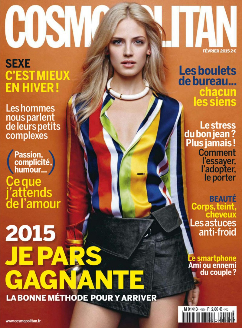 Sandra Malek featured on the Cosmopolitan France cover from February 2015