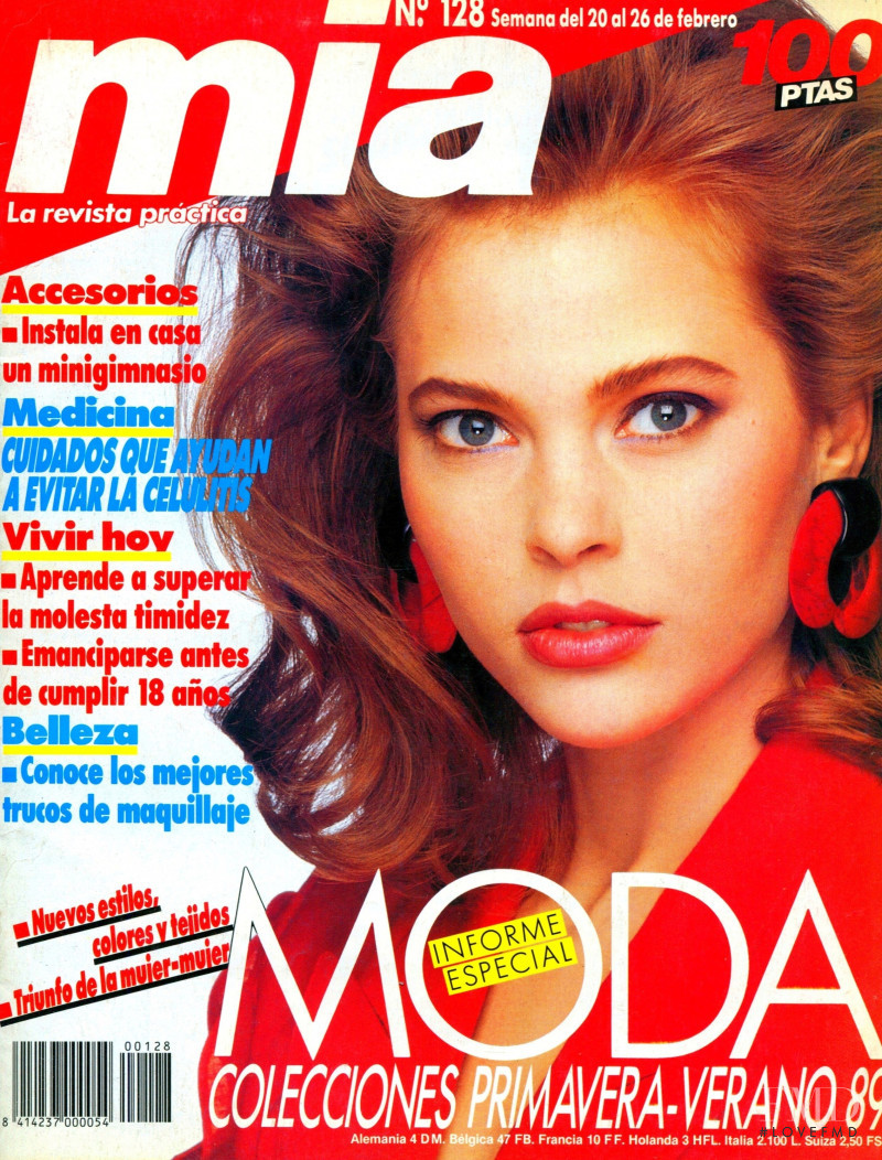 Judy Mancini featured on the Mia cover from February 1989
