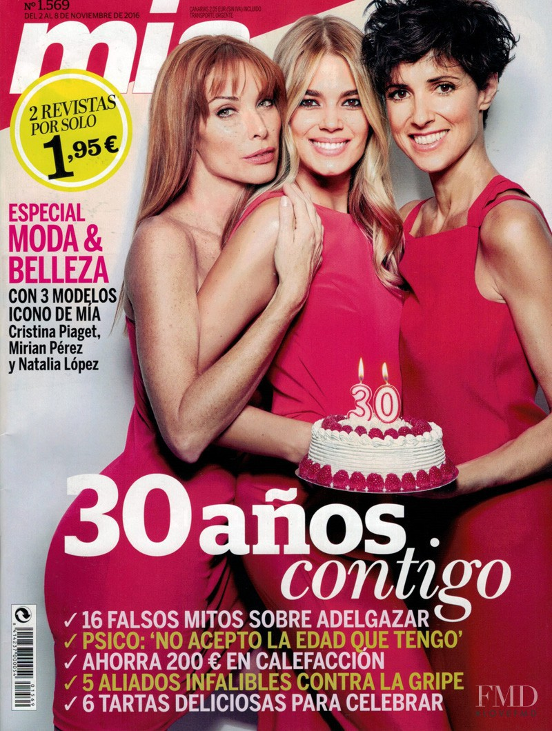 Cristina Piaget, Natalia Lopez, Mirian Perez featured on the Mia cover from November 2016