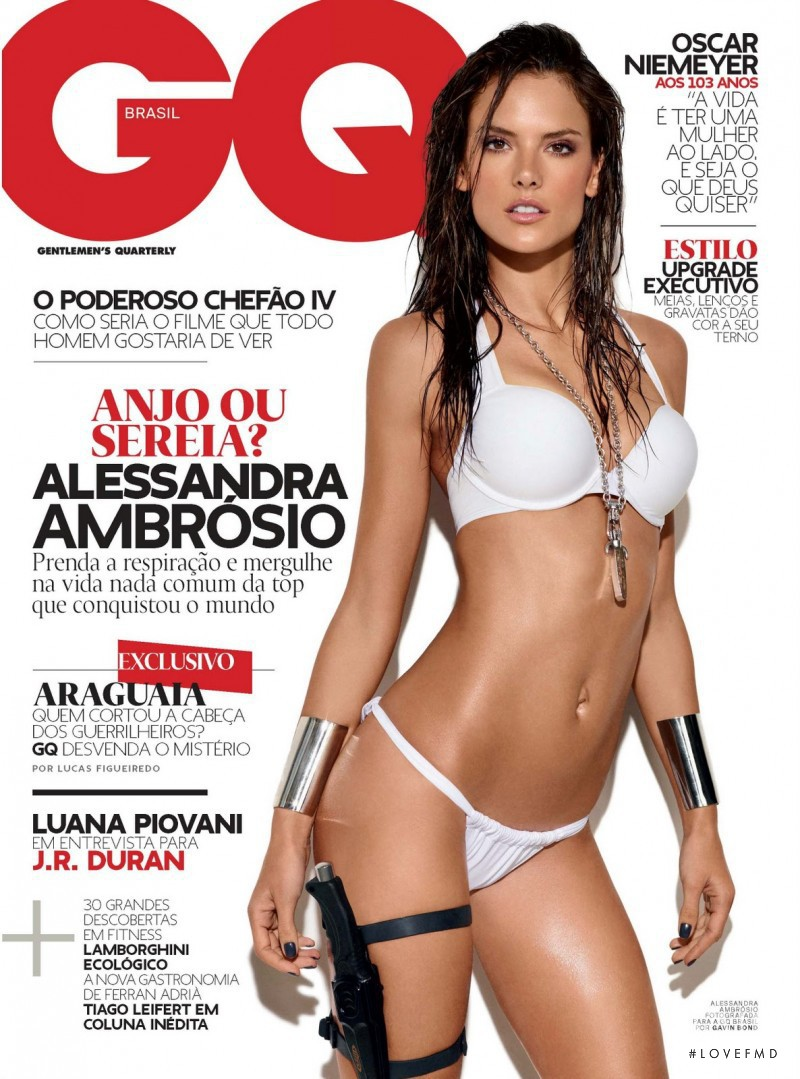 Alessandra Ambrosio featured on the GQ Brazil cover from April 2011