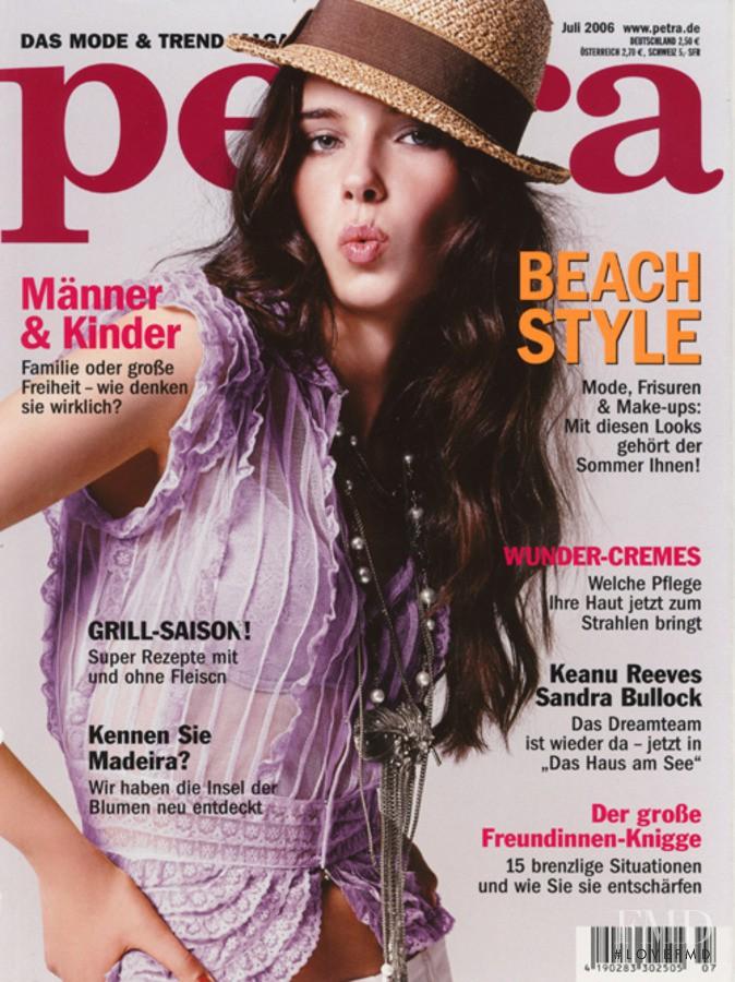 Mariya Sheitanova featured on the Petra cover from July 2006