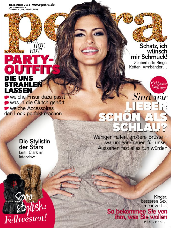 Eva Mendes  featured on the Petra cover from December 2011