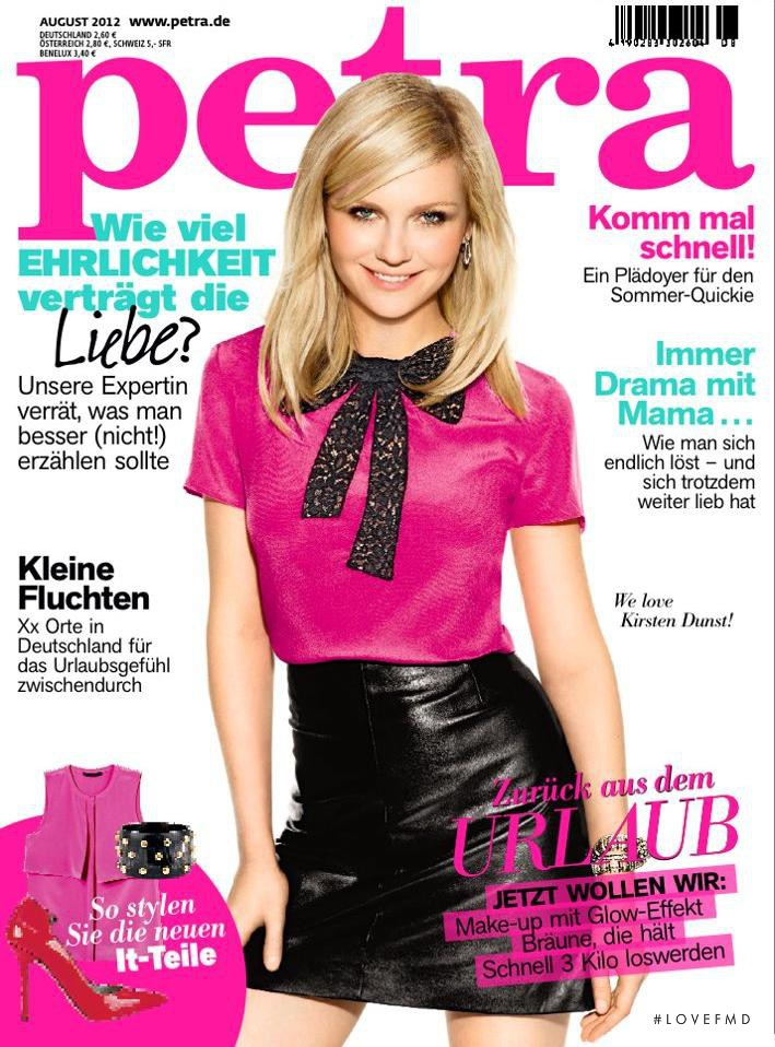 Kirsten Dunst featured on the Petra cover from August 2012