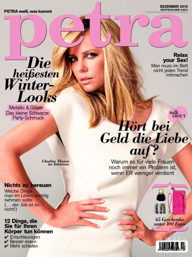Charlize Theron featured on the Petra cover from December 2012