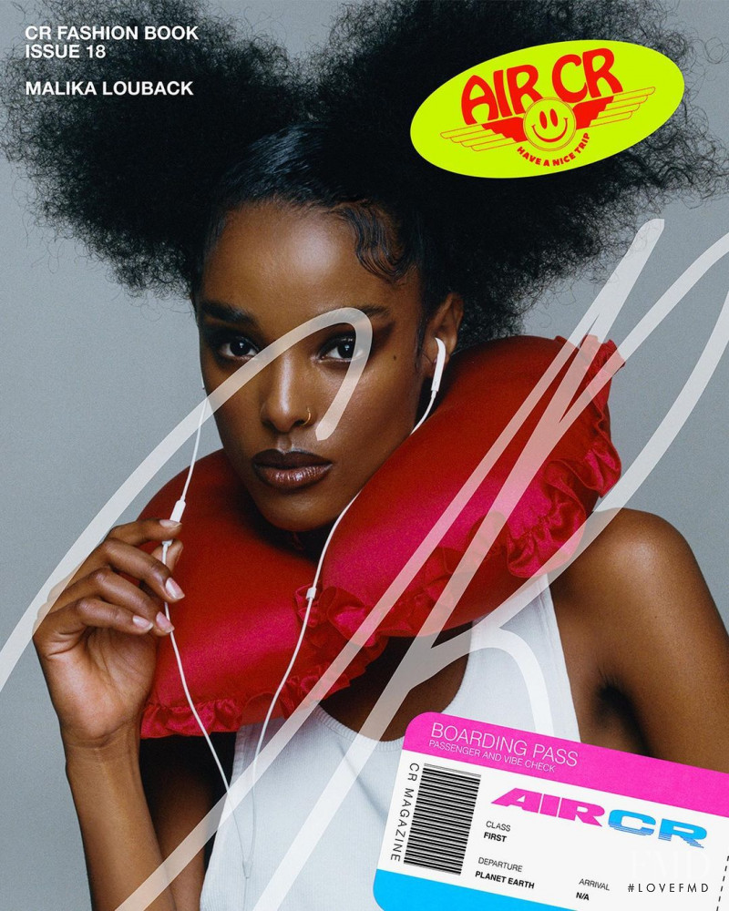 Malika Louback featured on the CR Fashion Book cover from March 2021