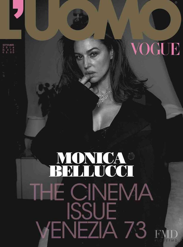 Monica Bellucci featured on the L\'Uomo Vogue cover from September 2016