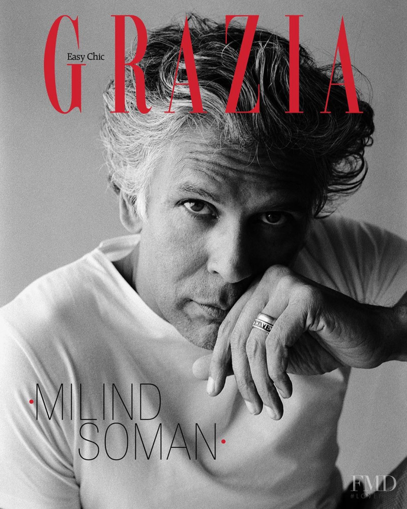 Milind Soman featured on the Grazia India cover from July 2020