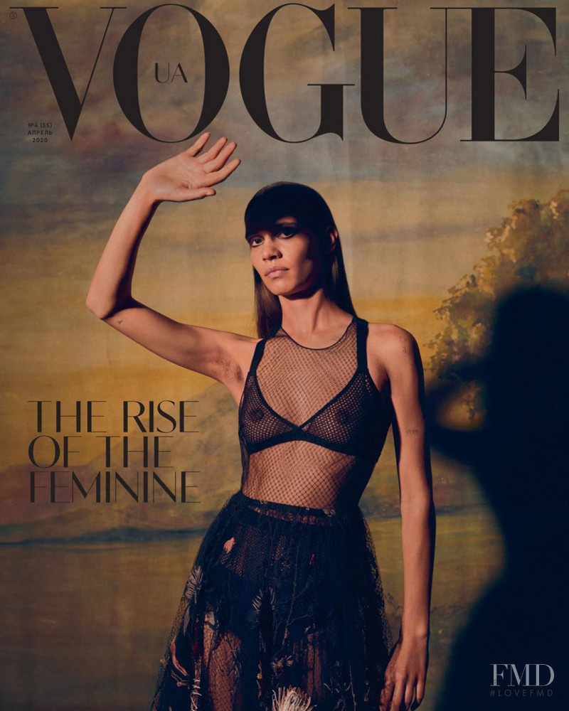 Kaya Wilkins featured on the Vogue Ukraine cover from April 2020