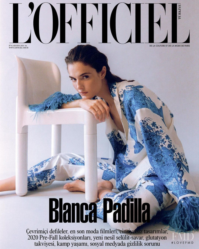 Blanca Padilla featured on the L\'Officiel Turkey cover from August 2020