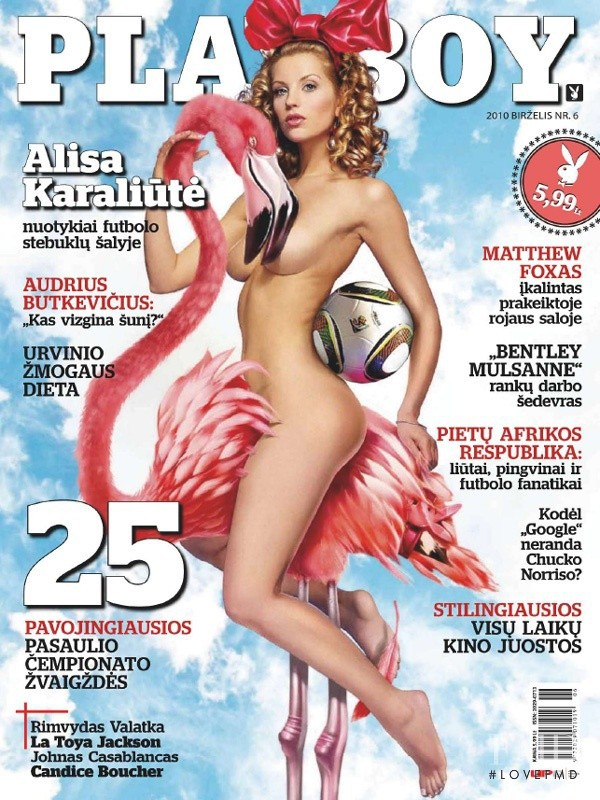 Alisa Karaliute featured on the Playboy Lithuania cover from June 2010