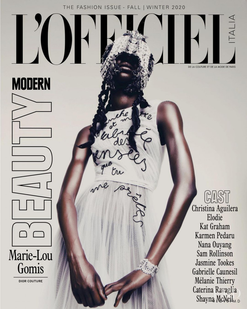 Marie Lou Gomis featured on the L\'Officiel Italy cover from October 2020