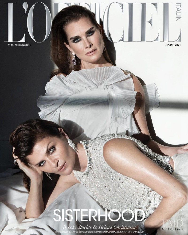 Brooke Shields featured on the L\'Officiel Italy cover from March 2021