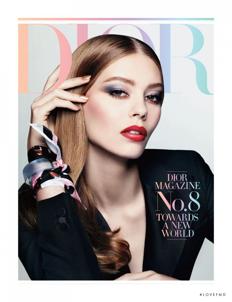 Ondria Hardin featured on the Dior Mag cover from December 2014