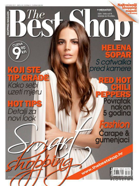 Helena Sopar featured on the The Best Shop Croatia cover from October 2011