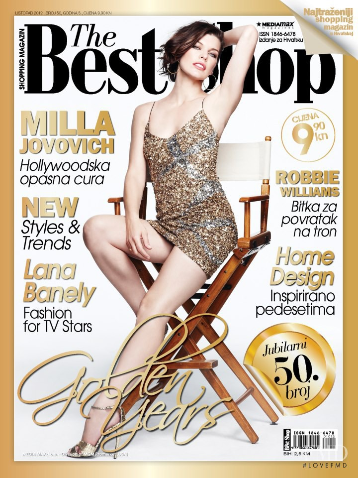 Milla Jovovich featured on the The Best Shop Croatia cover from October 2012