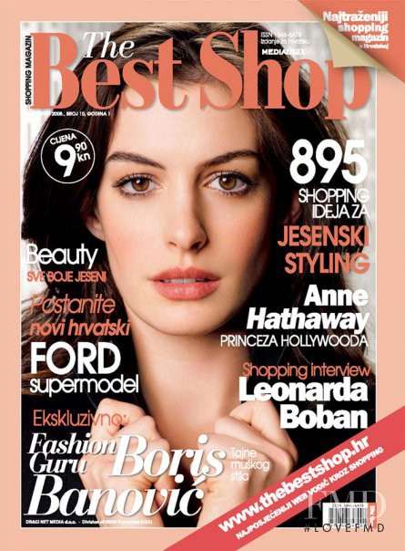 Anne Hathaway featured on the The Best Shop Croatia cover from October 2008