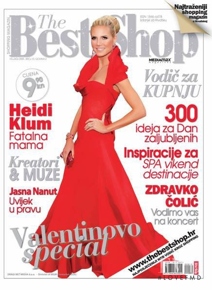 Heidi Klum featured on the The Best Shop Croatia cover from February 2009
