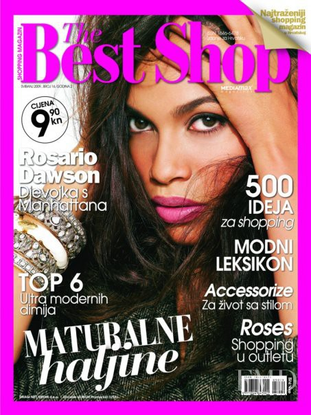 Rosario Dawson featured on the The Best Shop Croatia cover from May 2009