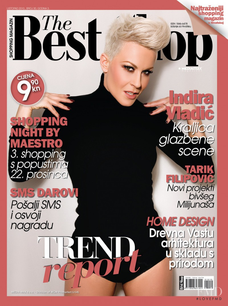 Indira Vladic featured on the The Best Shop Croatia cover from November 2010
