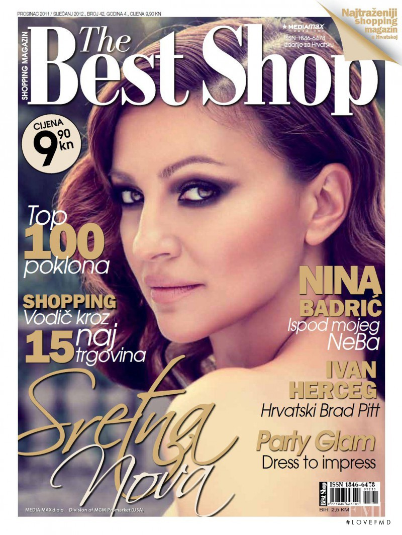 Nina Badric featured on the The Best Shop Croatia cover from December 2011