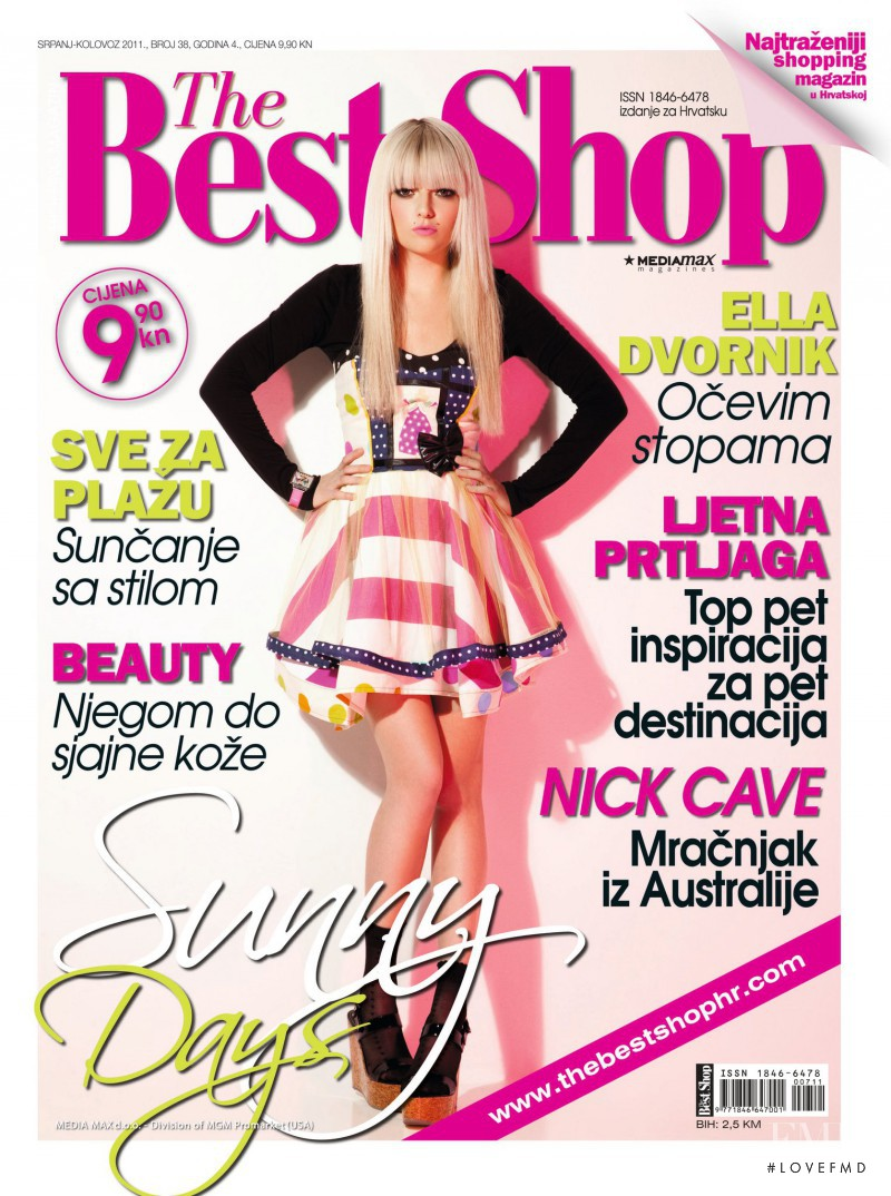 Ella Dvornik featured on the The Best Shop Croatia cover from July 2011